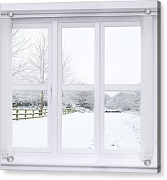 Winter Window Acrylic Print by Amanda Elwell