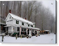 Winter Wonderland At The Valley Green Inn Acrylic Print by Bill Cannon