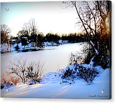 Winter Wonderland  In Maryland Usa Acrylic Print by Danielle  Parent