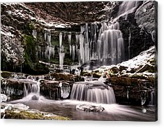 Winter Wonders At Scaleber Force Acrylic Print by Chris Frost