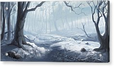 Winter Wood Acrylic Print by Sean Seal