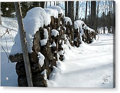 Acrylic Print featuring the photograph Winter Wood Supply by Jessie Parker
