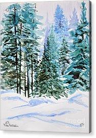 Winter Woods Acrylic Print by Joan Hartenstein