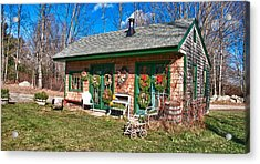 Winterberry Farm Stand Acrylic Print by Guy Whiteley