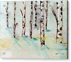 Winterbirch Acrylic Print