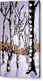 Acrylic Print featuring the painting Winterforest by Zeke Nord