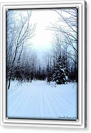 Winterlude In Abitibi Temiscamingue Quebec  Acrylic Print