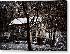 Winters At The Farm Acrylic Print