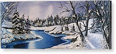 Acrylic Print featuring the painting Winter's Blanket by Sharon Duguay