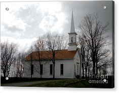 Winter's Church Acrylic Print