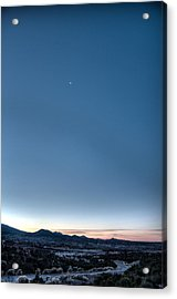 Winter's Dawn Over Santa Fe No.1 Acrylic Print by Dave Garner