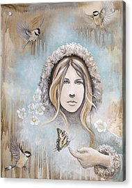 Acrylic Print featuring the painting Winter's Dream by Sheri Howe