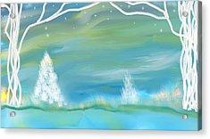 Winters Edge Acrylic Print
