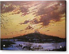 Winter's Eve At Holy Hill Acrylic Print by Tom Shropshire