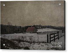 Winter's Farm Acrylic Print by Terry Rowe