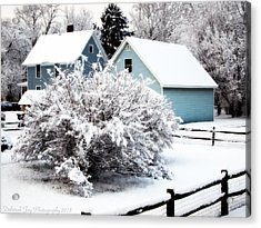 Winters First Snow Acrylic Print by Deborah Fay