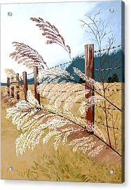 Winter's Flowers Acrylic Print by Jennifer  Donald