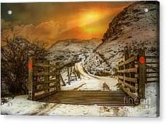 Winters Gate Acrylic Print by Adrian Evans