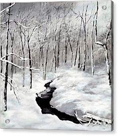 Winters Glory Acrylic Print by Jennifer  Blenkinsopp