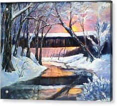 Winter's Glow Acrylic Print by Gail Kirtz