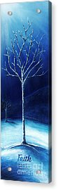 Winter's Hope Acrylic Print by Shevon Johnson