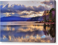 Winters Lake Acrylic Print by Dave Woodbridge