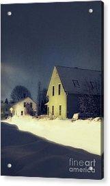 Snowy Night Acrylic Print by HD Connelly