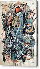 Winter's Retreat Acrylic Print by Nancy Kane Chapman