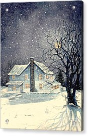 Winter's Silent Night Acrylic Print by Janine Riley