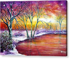 Winter's Song Acrylic Print by Ann Marie Bone