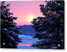 Acrylic Print featuring the photograph Winter's Sunrise by Elizabeth Winter