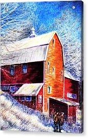 Winterscape Acrylic Print by Raffi Jacobian