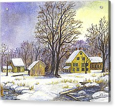Wintertime In The Country Acrylic Print