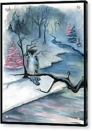 Acrylic Print featuring the painting Winterwood by Terry Webb Harshman