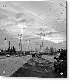 Wintery Commute Acrylic Print