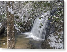 Wintery Frolictown Falls Acrylic Print by Stephen Gray