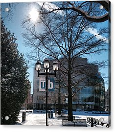 Wintery Gordon Plaza  Acrylic Print