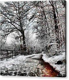 Wintery Road Acrylic Print