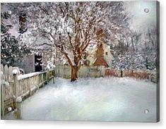 Wintry Garden Acrylic Print