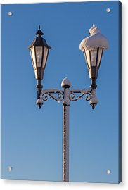 Wintry Lamp Post Acrylic Print