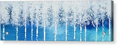 Acrylic Print featuring the painting Wintry Mix by Linda Bailey