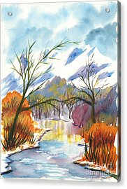 Wintry Reflections Acrylic Print