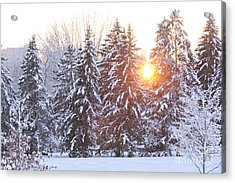 Wintry Sunset Acrylic Print