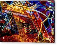 Wipe Out Digital Guitar Art By Steven Langston Acrylic Print by Steven Lebron Langston