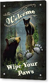 Wipe Your Paws Acrylic Print by JQ Licensing