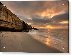 Wipeout Beach Sunset Acrylic Print by Peter Tellone