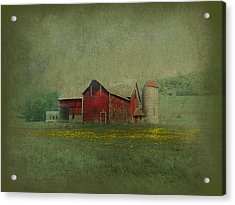 Wisconsin Barn In Spring Acrylic Print by Jeff Burgess