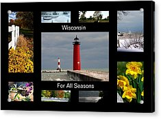 Acrylic Print featuring the photograph Wisconsin For All Seasons by Kay Novy