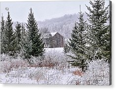 Wisconsin Frost Acrylic Print by Trey Foerster