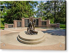 Acrylic Print featuring the photograph Wisconsin State Firefighters Memorial 1 by Susan  McMenamin